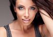 Portrait of beautiful delicate brunette woman