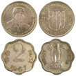 old rare coins of india isolated on white background