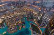 Dubai Fountain Area from Burj Khalifa
