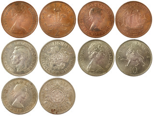 different rare coins of great britain
