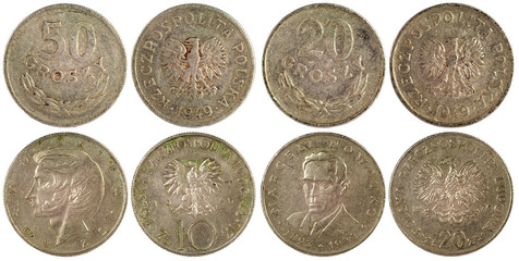 vintage coins of poland