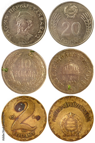 vintage rare coins of hungary