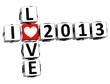 3D I Love 2013 Crossword