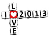 3D I Love 2013 Crossword