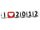 3D I Love 2012 Button Click Here Block Text