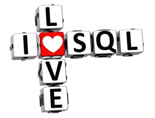 3D I Love SQL Crossword