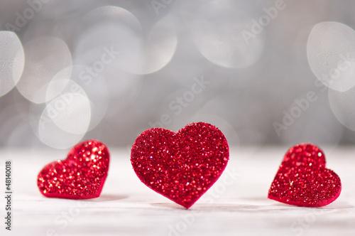 Drei Bling Bling Herzen