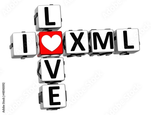 3D I Love XML Crossword