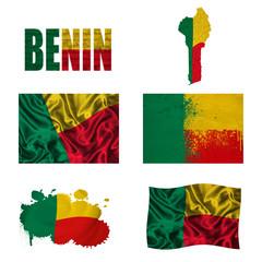 Benin flag collage