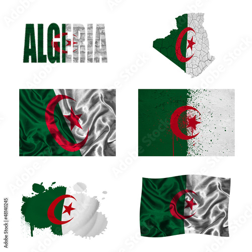 Algerian flag collage