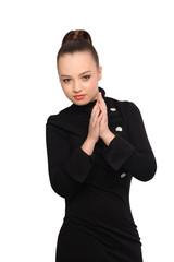 Nice asian girl in black dress