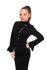 Nice girl in black dress