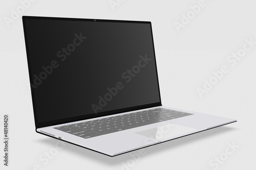 ultrabook on a white background
