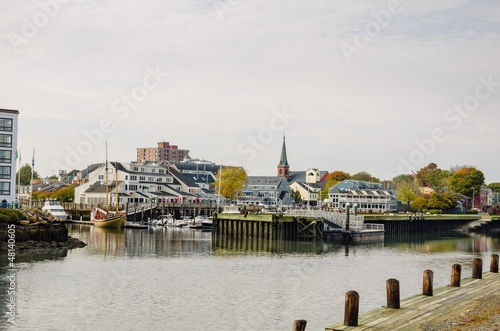 Salem Harbour on an Autumn Cloudy Day