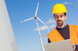 Technician Engineer in Wind Turbine Power Generator Station