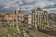 Roman ruins in Rome, Fori Imperiali.