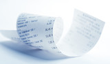 shopping list on a till roll printout