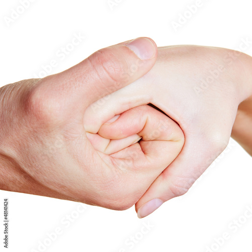 Spirale aus Händen
