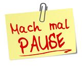 Fototapety Pause Post It  #130102-svg01