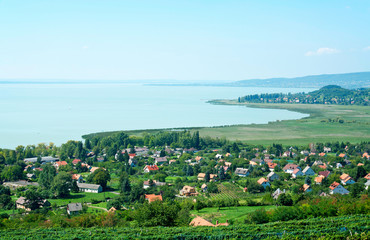 Landscape of Lake Balaton,Hungary