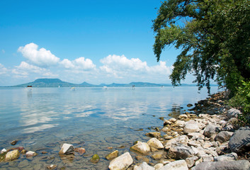 Landscape of Lake Balaton, Hungary
