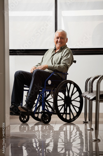 Happy Disabled Senior Man