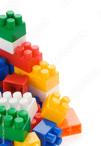 colorful construction bricks
