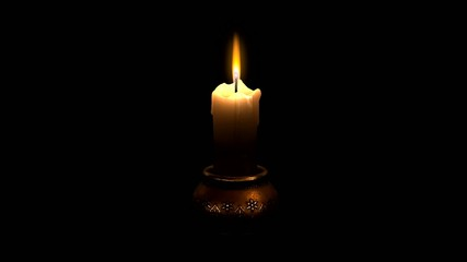 Looped animation of candle flame