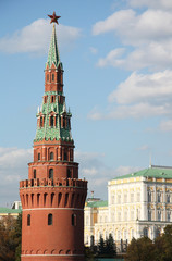 The Tower and Palace of Moscow Kremlin, Russia