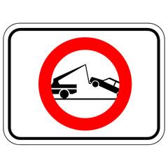 Parken verboten - Abschleppdienst tätig