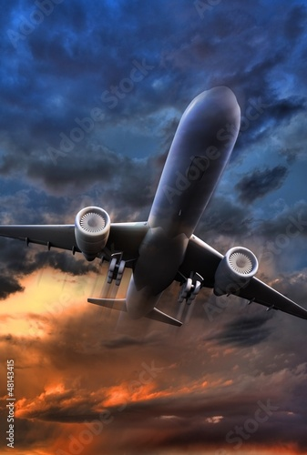 Airliner Take Off Illustration