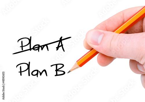 Plan A / Plan B / Handschrift