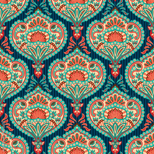 Oriental seamless paisley wallpaper pattern