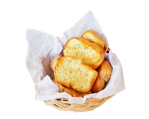 Garlic bread isolate on white