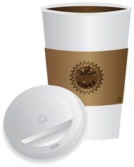 Coffee To Go Cup with Lid Illustration