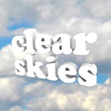 Clair Skys Word ouvrir Nuages de ciel bleu