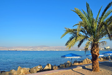 Gulf of Aqaba in Jordan