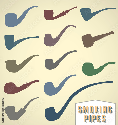 Vector Set: Smoking Pipe Collection