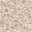 Ornate Henna Paisley Pattern Doodle Vector Design
