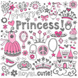 Princess Tiara Sketchy Notebook Doodle Set