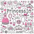 Princess Tiara Sketchy Notebook Doodle Set