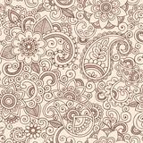 Fototapety Ornate Henna Paisley Pattern Doodle Vector Design