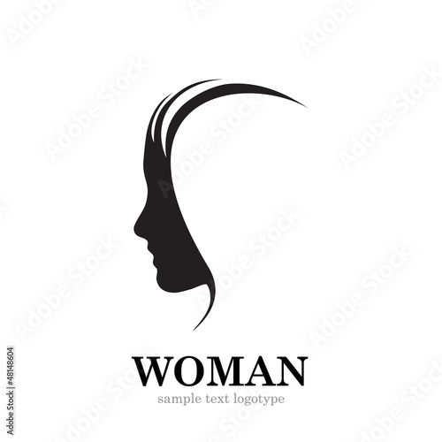 Vector logo Profile of woman
