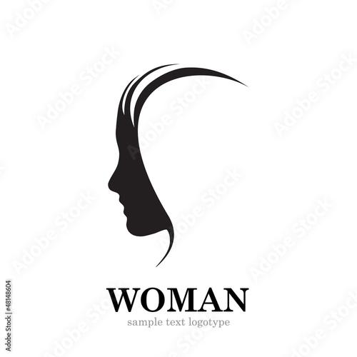 Woman Profile Logo Vector Logo Profile of Woman