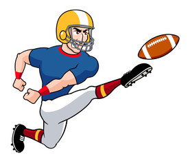 illustration of Cartoon American football player