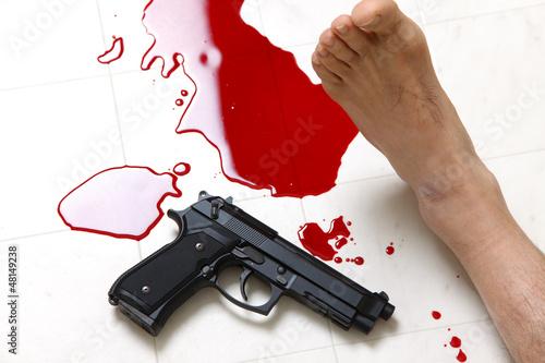 発砲事件の犯行現場