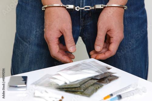 逮捕されたドラッグディーラー