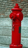 Red fire hydrant available of firefighters