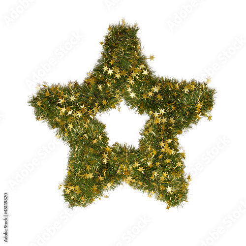 Christmas star ornament isolated