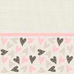 scrapbook papier w serca z różową wstążką